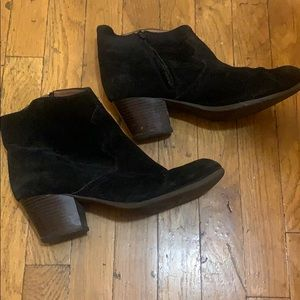 Lucky Brand Black Suede Ankle Booties